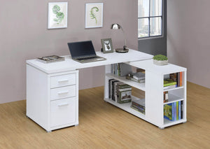 White L-Shape Desk