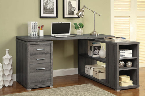 Gray L-Shape Desk