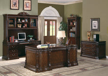 Load image into Gallery viewer, Traditional Rich Brown Executive Desk