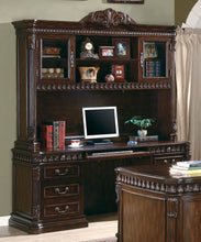 Load image into Gallery viewer, Traditional Rich Brown Credenza Desk