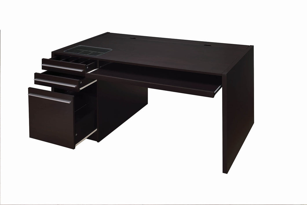Contemporary Cappuccino Connect-It Computer Desk - 60