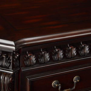 Traditional Rich Brown Two-Drawer File Cabinet