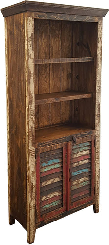 Rustic Multi Color Bookcase