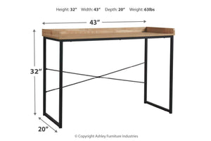 "Natural Wood Finish 43"" Home Office Desk"