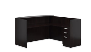 "71"" Laminate Receptionist Desk and Return"