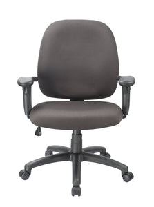 Black Fabric Desk Chair