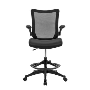 Mesh Back with Flip Up Arm Drafting Chair