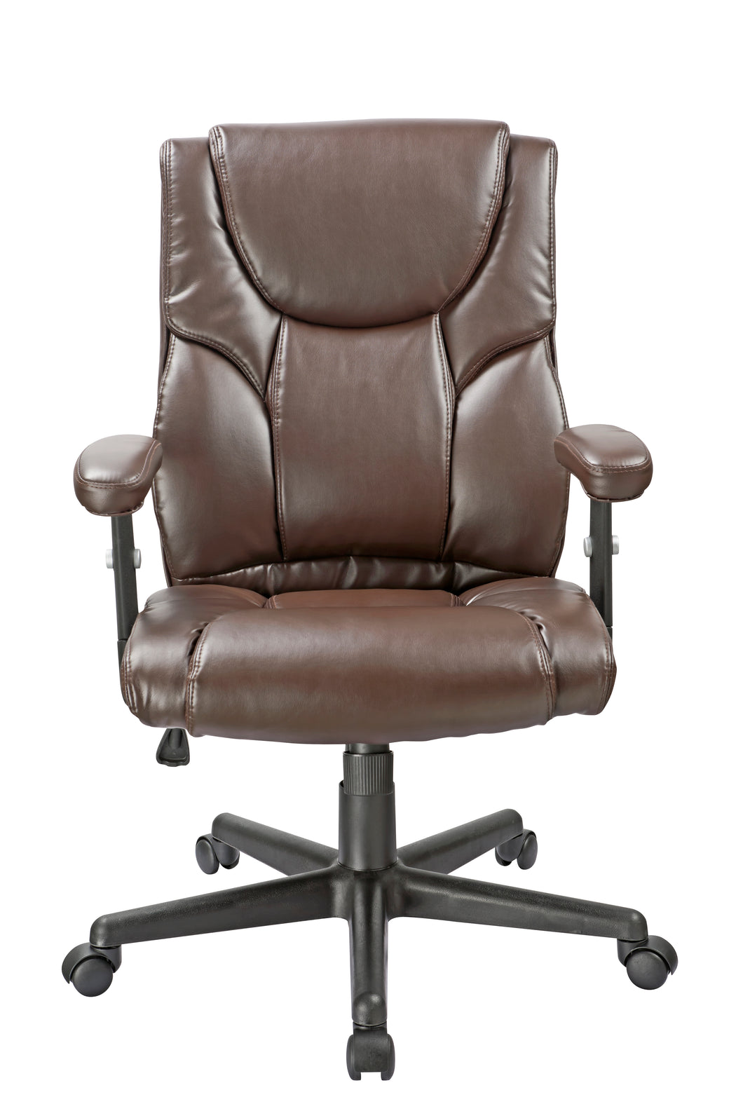 Brown Vinyl Executive Desk Chair