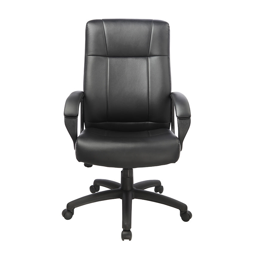 Black Vinyl High Back Executive Desk Chair