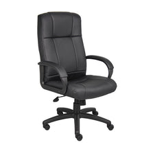 Load image into Gallery viewer, Black Vinyl High Back Executive Desk Chair