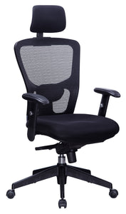 Black Mesh Back Desk Chair With Headrest