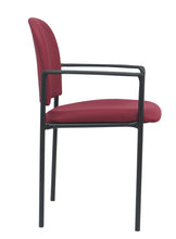 Load image into Gallery viewer, Burgundy Fabric Guest Chair