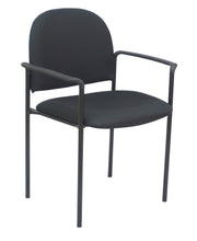 Load image into Gallery viewer, Black Fabric Guest Chair With Arms