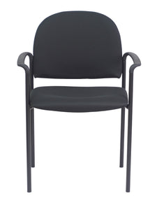 Black Fabric Guest Chair With Arms