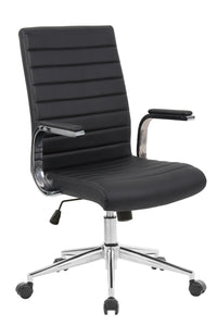 Black Vinyl Desk Chair