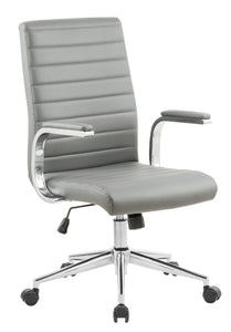 Gray Vinyl Desk Chair