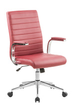 Load image into Gallery viewer, Red Vinyl Desk Chair