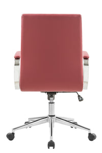 Red Vinyl Desk Chair