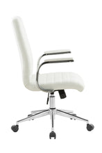 Load image into Gallery viewer, White Vinyl Desk Chair