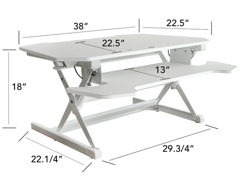 White Table Top Riser