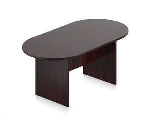 Laminate Racetrack Conference Table - 6'