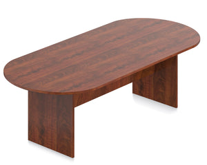 Laminate Racetrack Conference Table - 8'