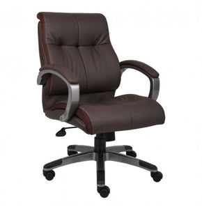 Mid-Back Brown Executive Desk Chair