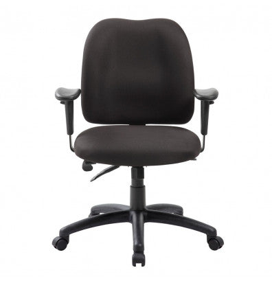 Black Multifunction Fabric Mid-Back Desk Chair