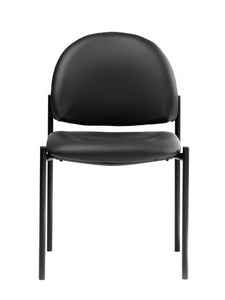 Black Vinyl Armless Guest Chair