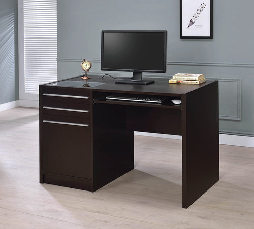 Contemporary Cappuccino Connect-It Computer Desk - 48