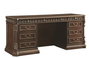 Traditional Rich Brown Credenza Desk