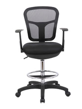 Load image into Gallery viewer, Black Mesh Back Drafting Chair