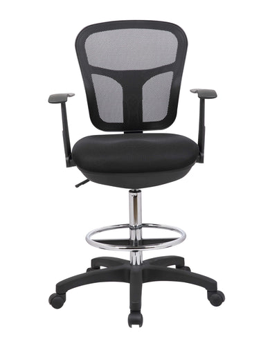 Black Mesh Back Drafting Chair