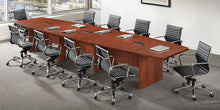 Load image into Gallery viewer, Laminate Boat Shape Conference Table - Custom Size (12' - 30')