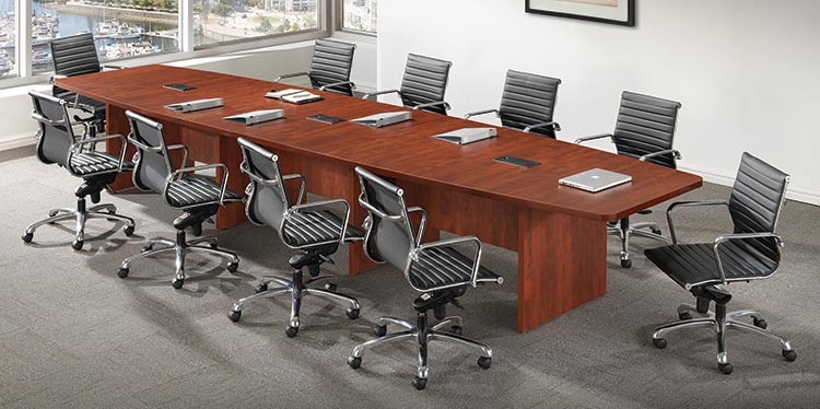 Laminate Boat Shape Conference Table - Custom Size (12' - 30')