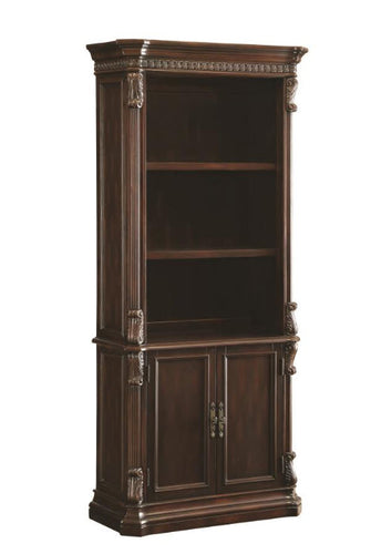 Traditional Rich Brown Bookcase