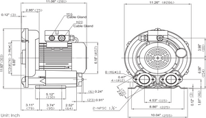 Fuji Electric VFB175P-5T Dimensions
