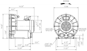 VFZ501A-7W Dimension Drawing - Fuji Electric