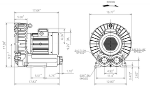 VFZ701A-7W Dimension Drawing - Fuji Electric