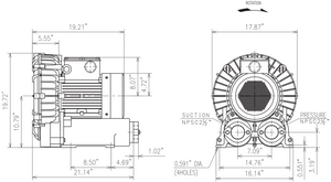 VFZ801A-7W Dimension Drawing - Fuji Electric