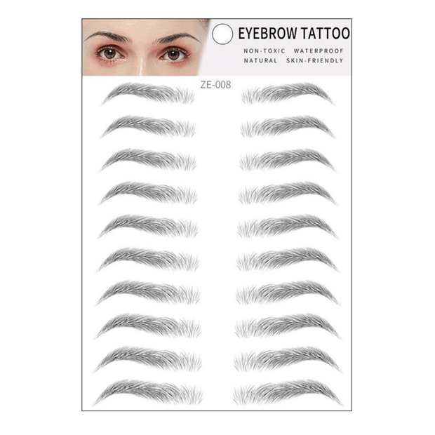This Hair-Like Authentic Eyebrow Sticker is a set of perfect brows stickers that is specially designed to stay as TATTOO on your face temporarily.