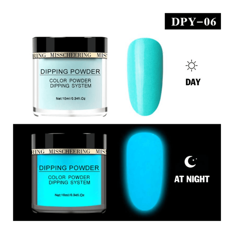 GLOW IN THE DARK NAIL POWDER-Beauty sets and kits