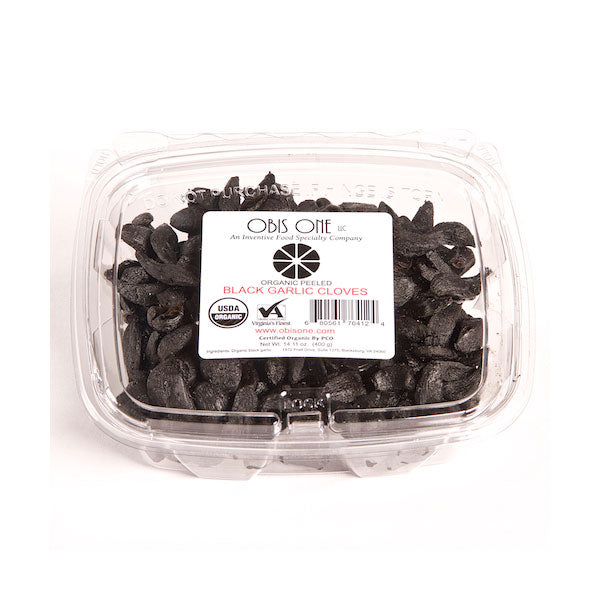 Organic Peeled Black Garlic Cloves from Obis One