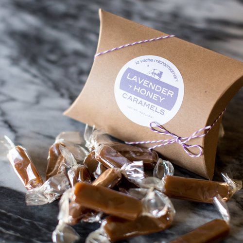 Lavender + Honey Caramels