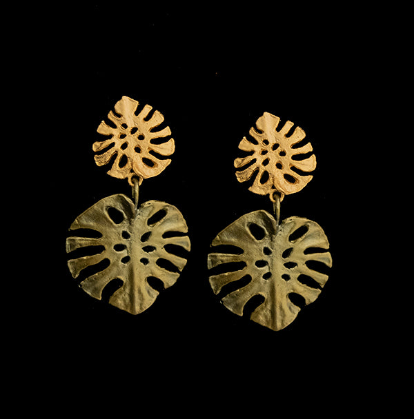 Monstera Large Post Earrings