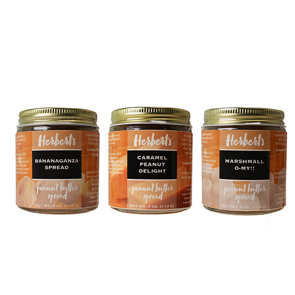 Gourmet Peanut Butter Spread, 3 Box Set