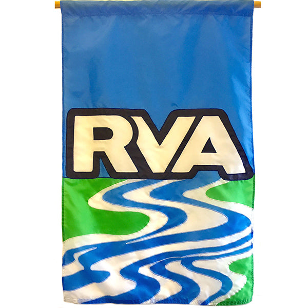 RVA On The Rivah Flag, 36x54""