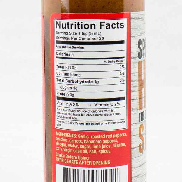 "Speedy's #44 ""The Original"" from Speedy's Hot Sauce Nutrition Info"