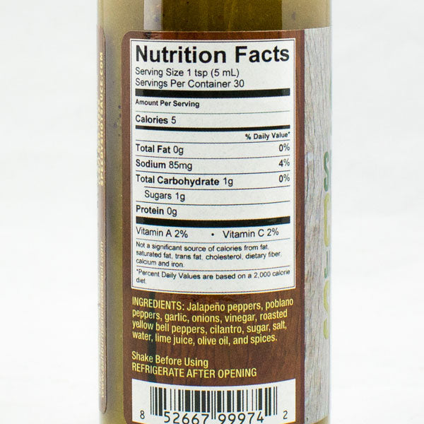 "Speedy's #46 ""Citrus Jalapeno"" from Speedy's Hot Sauce Nutrition Information"