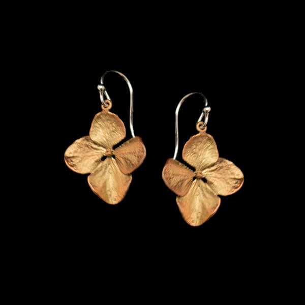 Hydrangea Flower Wire Earrings